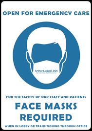 Face Masks Required in Lobby and when transitioning through the office.